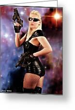 Scifi Heroine Greeting Card