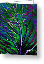 Scintillating Leaf Greeting Card