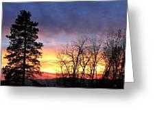 Scintillating Sunset Greeting Card