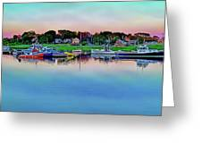 Scituate Harbor At Sunset Greeting Card