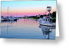 Scituate Harbor Sunset Greeting Card
