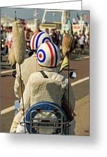 Scooter Mods And Helmets Greeting Card