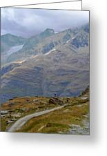 Scoping The Alps Greeting Card