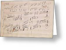 Score Sheet Of Moonlight Sonata Greeting Card