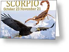 Scorpio Astrology Art Greeting Card