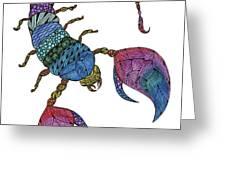 Scorpio Greeting Card by Barbara McConoughey