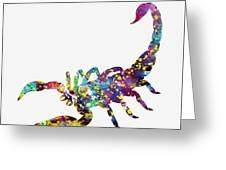 Scorpion-colorful Greeting Card