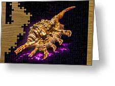 Scorpion Shell Puzzle Greeting Card