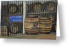 Scotch Whiskey - Barrels - Macallan Greeting Card