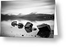 Scotland Lomond Rocks Greeting Card by Nina Papiorek