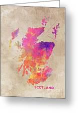 Scotland Map Greeting Card