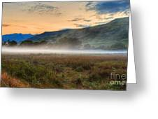 Scotland Mist In Widescape Greeting Card