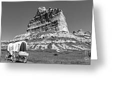 Scots Bluff Black And White Greeting Card