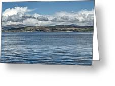 Scottish Panorama Over The River Clyde Greeting Card