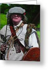Scottish Soldier Of The Sealed Knot At The Ruthin Seige Re-enactment Greeting Card
