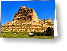 Scotts Bluff National Monument Panorama Greeting Card