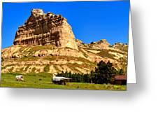 Scotts Bluff National Panoramic Landscape Greeting Card