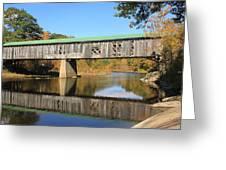 Scotts Covered Bridge West River Greeting Card