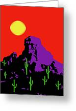Scottsdale Mountain Greeting Card