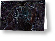 Scratch Board Art Print Greeting Card by Anthony Allen