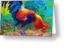 Scratchin' Rooster Greeting Card