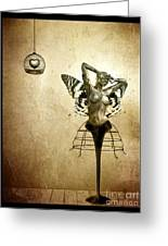 Scream Of A Butterfly Greeting Card