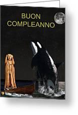 Scream With Orca Italian Greeting Card