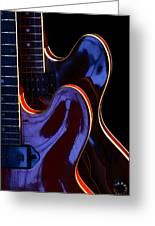Screaming Guitars Greeting Card