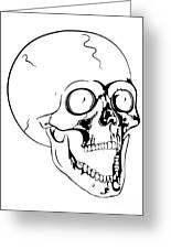 Screaming Skull Greeting Card