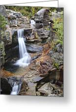 Screw Auger Falls - Maine  Greeting Card