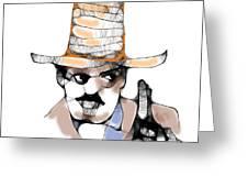 Scribbler Cowboy Greeting Card