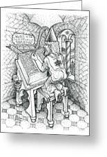 Scribe Greeting Card by Bill Perkins