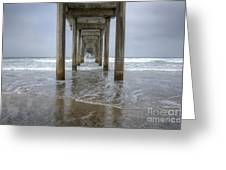 Scripps Pier La Jolla California 4 Greeting Card