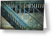 Scrolled Staircase By H H Photography Of Florida Greeting Card