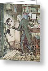 Scrooge And Bob Cratchit Greeting Card