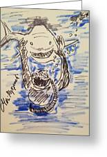 Scuba Diving With Sharks Greeting Card