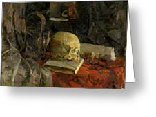 Scull Greeting Card