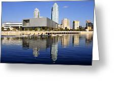 Sculling By The Tampa Bay Art Center Greeting Card