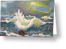 Sculpting Tide Greeting Card