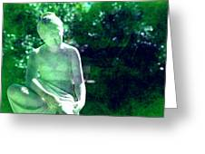 Sculpture In A Park Greeting Card by Susanne Van Hulst