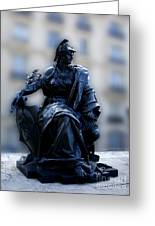 Sculpture In Front Of Orsay Museum Paris France Greeting Card