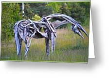 Sculpture Of Horse Greeting Card