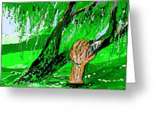 Sculptured Falling Tree Greeting Card