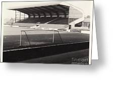 Scunthorpe United - Old Showground - East Stand 1 - Bw - 1960s Greeting Card