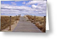 Scusset Beach Entrance Greeting Card