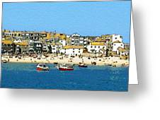 Sea And Sky Greeting Card by Julian Perry