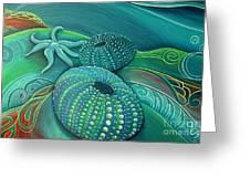 Sea Anemone Kina By Reina Cottier Greeting Card