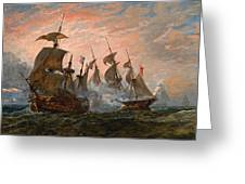 Sea Battle Greeting Card