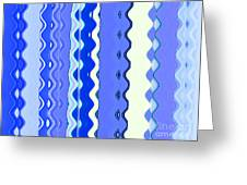 Sea Blue Wave Tapestry Greeting Card