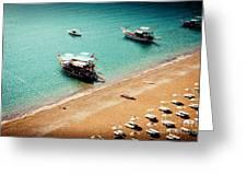 Sea Boats In The Laguna Greeting Card